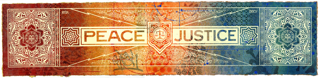 Shepard Fairey, 'Peace & Justice Collaboration', 2013, Blackline Gallery