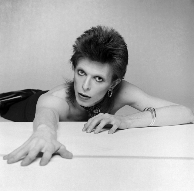 , 'David Bowie on the floor arm out,' ca. 1974, Ransom Art