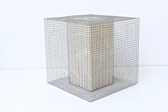, 'RNcube2-99 Wire Mesh with Paper Cube,' 1999, Tayloe Piggott Gallery