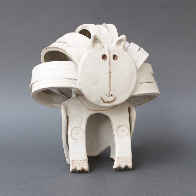 , 'Ceramic Lion Sculpture,' 1970-1979, Bureau of Interior Affairs