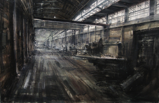 Alessandro Papetti, 'Officine Renault', 2007, Painting, Oil on canvas, Gallery Jones