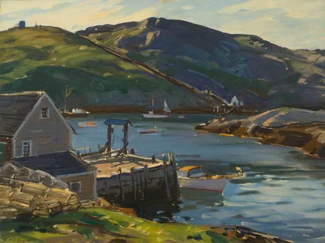 Aldro Thompson Hibbard, 'Monhegan Harbor, Maine', ca. 1950, Vose Galleries