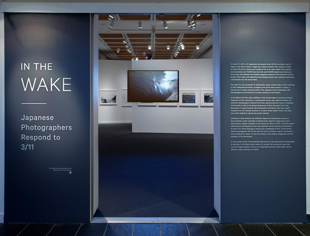 "Installation view of ""In the Wake: Japanese Photographers Respond to 3/11"" at Japan Society, New York (2016) Photo: Richard P. Goodbody, Inc."