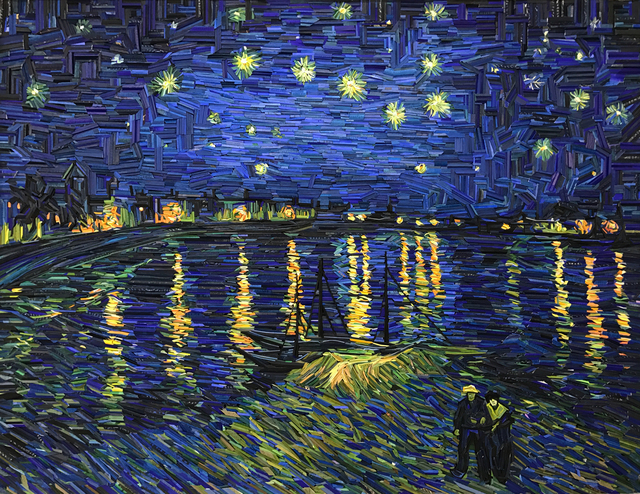 , 'Monument - Starry Night Over the Rhône,' 2017, BLANK SPACE