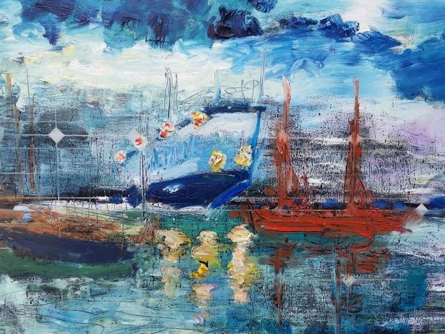 , 'Water paintings summer 2019 - plein air in situ paintings, The Port of Koper, from Marina,' 2019, Noravision Gallery