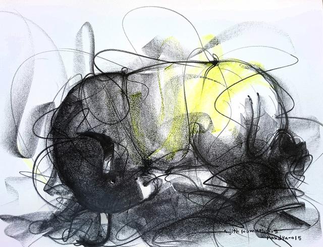 Sujth Kumar G.S. Mandya, 'Bull Drawing - 609', 2015, MayinArt