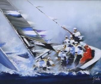 Victor Spahn, 'Single Boat with Men', The Loft Fine Art