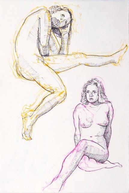 , 'Double Figure Study,' 2014, Flow 305