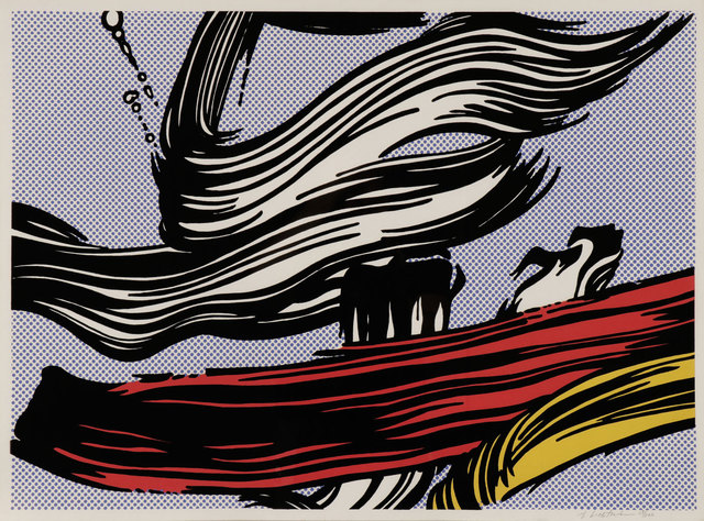 Roy Lichtenstein, 'Brushstroke', 1967, Print, Screenprint, Gregg Shienbaum Fine Art