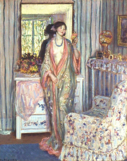 Frederick Carl Frieseke, 'The Robe ', 1915, Indianapolis Museum of Art at Newfields