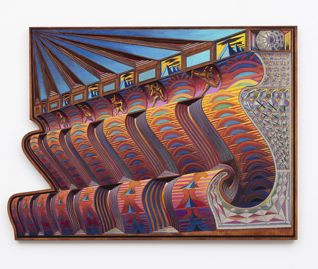 Zach Harris, 'Zodiac Bench / Sunset Strips', 2018, David Kordansky Gallery