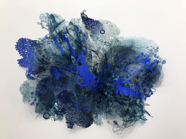 Joan Hall, 'The New Normal', 2020, Drawing, Collage or other Work on Paper, Handmade paper using kozo, gampi, and abaca, Childs Gallery