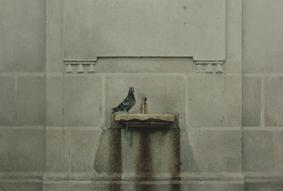 , 'Paloma en una fuente de la ciudad,' , Sala Parés