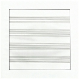 Untitled (X) Lithograph on Vellum Parchment, from Stedelijk Museum (Framed)