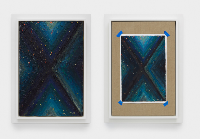 Julian Hoeber, 'Execution Changes #98A & 98B (XS, Q1, UMJ, LC, Q2, RMJ, DV, Q3, LMJ, DC, Q4, LMJ, DC)', 2018, Jessica Silverman Gallery