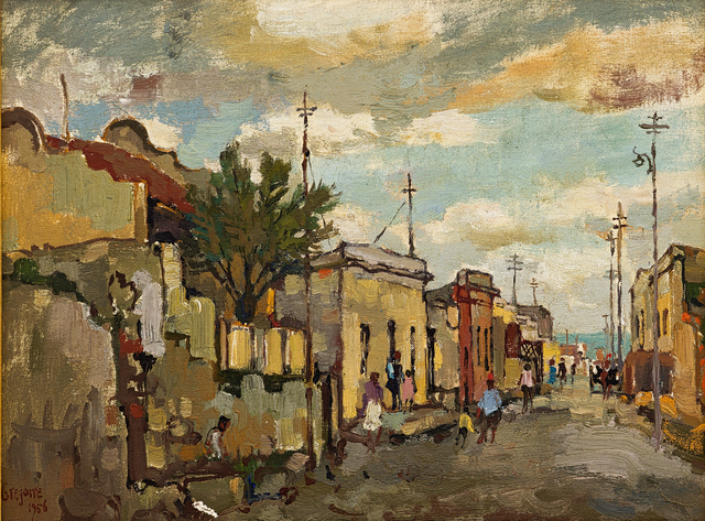 Gregoire Johannes Boonzaier, 'Chiappini Street, Malay Quarter, C Town', 1956, Strauss & Co