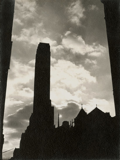 Dorothy Norman, 'Rockefeller Center in Silhouette , New York City, NY', 1938/1938, Photography, Silver print on original mount., Contemporary Works/Vintage Works