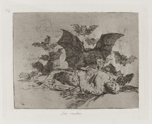 , 'Las resultas [The consequences], plate 72,' 1813-1815, Blanton Museum of Art