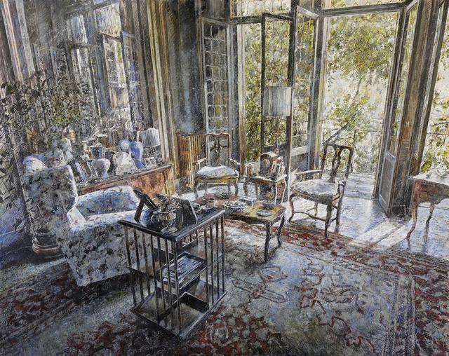 Raffaele Minotto, 'Interno illuminato', 2018, Painting, Oil on board, Galleria Punto Sull'Arte