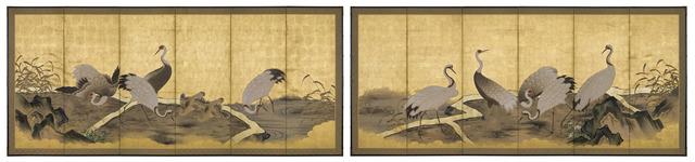 Unknown Artist, 'Cranes by a Stream (T-3631)', Edo Period (1615-1868) 1800, Erik Thomsen