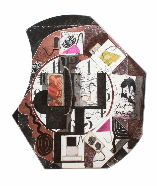 , 'Untitled (David Bourdon Profile with Clock and Moticos Tesserae, Feb 10. 1979, Feb 11. 1979,' 1979, TOTAH