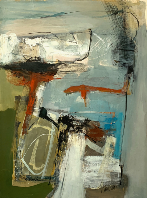 Chris Sims, 'Earthbeat (LP31)', 2020, Painting, Oil and charcoal on paper, Joanna Bryant & Julian Page