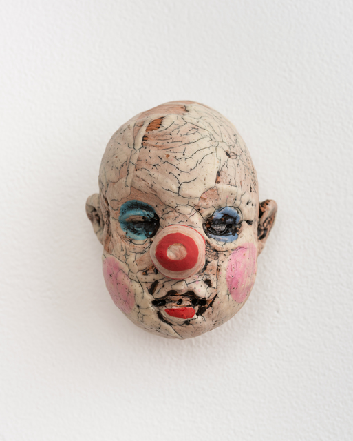 , 'Medium Doll Head, Red and Pink Striped Nose,' 2018, Eutectic Gallery