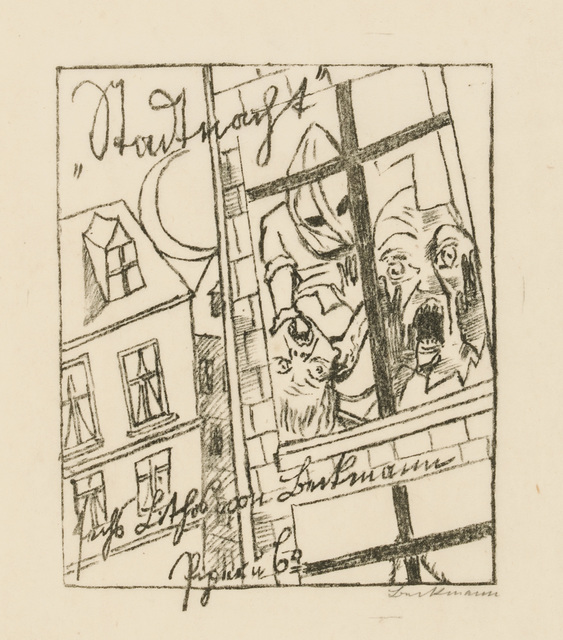 , 'Title Page for City Night,' 1920, Galerie St. Etienne