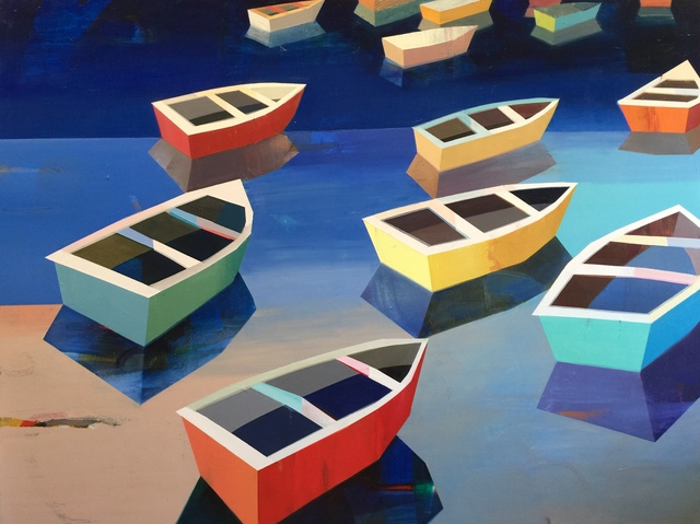 , 'Colorful Boats in the Bay #17,' 2018, Caldwell Snyder Gallery