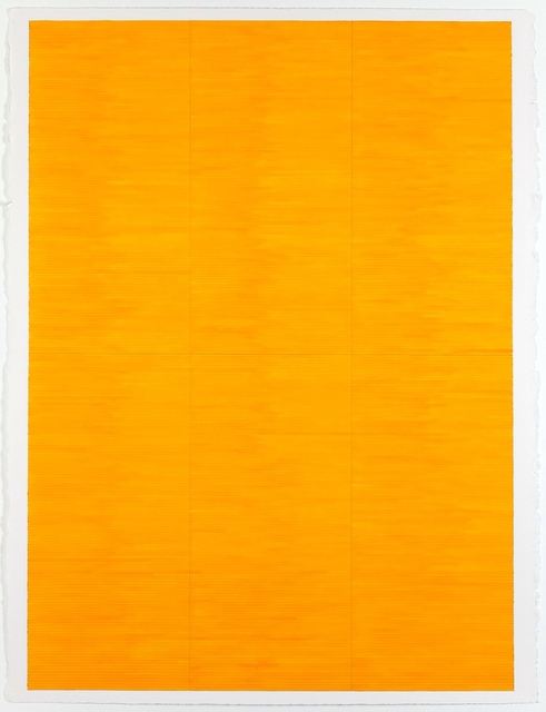 Jon Poblador, 'Yellow Field', 2020, Painting, Watercolor and Graphite Pencil on Paper, Alfa Gallery