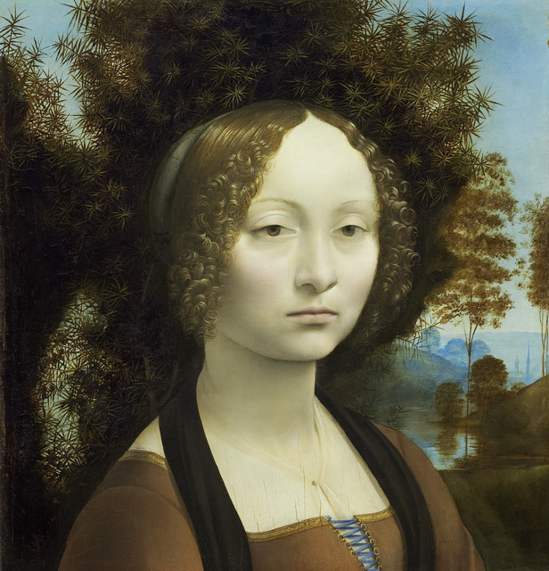 Leonardo da Vinci, 'Ginevra de' Benci [obverse]', 1474-1478, National Gallery of Art, Washington, D.C.