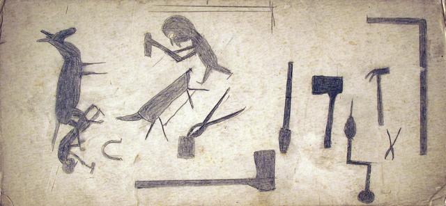 , 'Untitled Blacksmith Shop,' 1939, Carl Hammer Gallery
