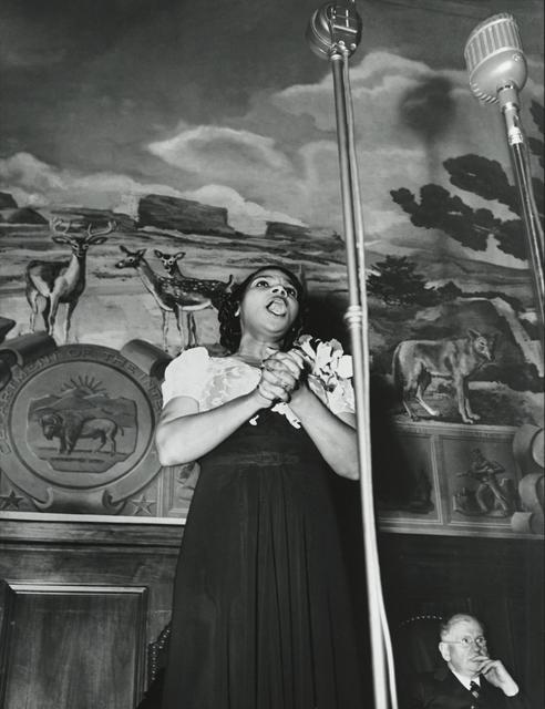 , 'Marian Anderson , Washington, D.C.,' 1943, Howard Greenberg Gallery
