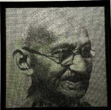 , 'Ghandi,' 2014, Ode to Art