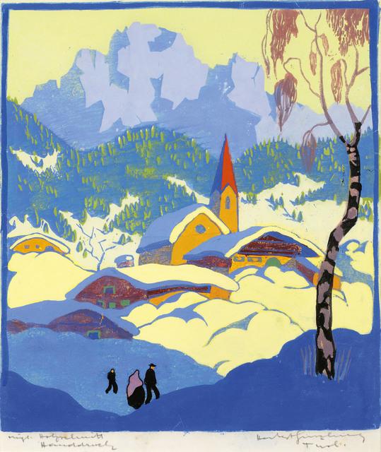 , 'Winter in Tyrol,' ca. 1930, Galerie Kovacek