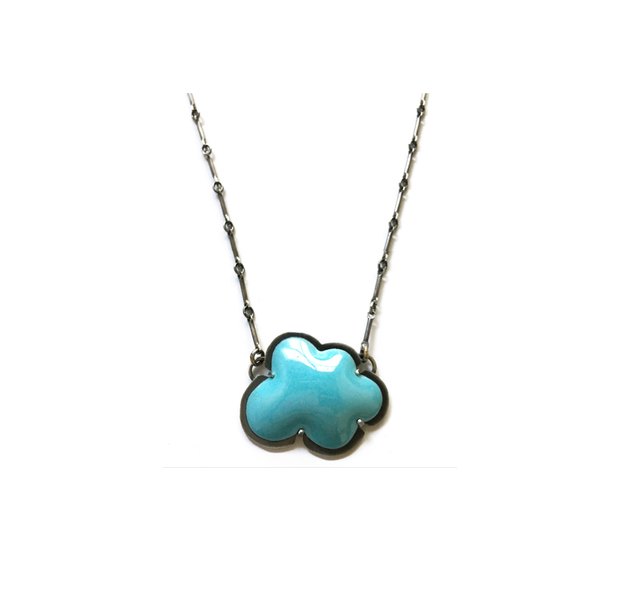Lisa Crowder, 'Tiny Blue Cloud Enamel Pendant', 2018, Palette Contemporary Art and Craft