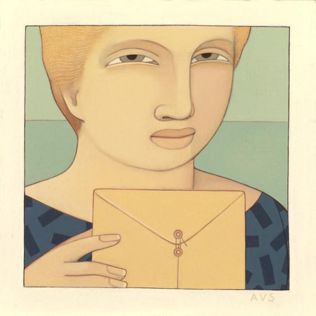 , 'Woman with Envelope,' 1990, Adelson Galleries