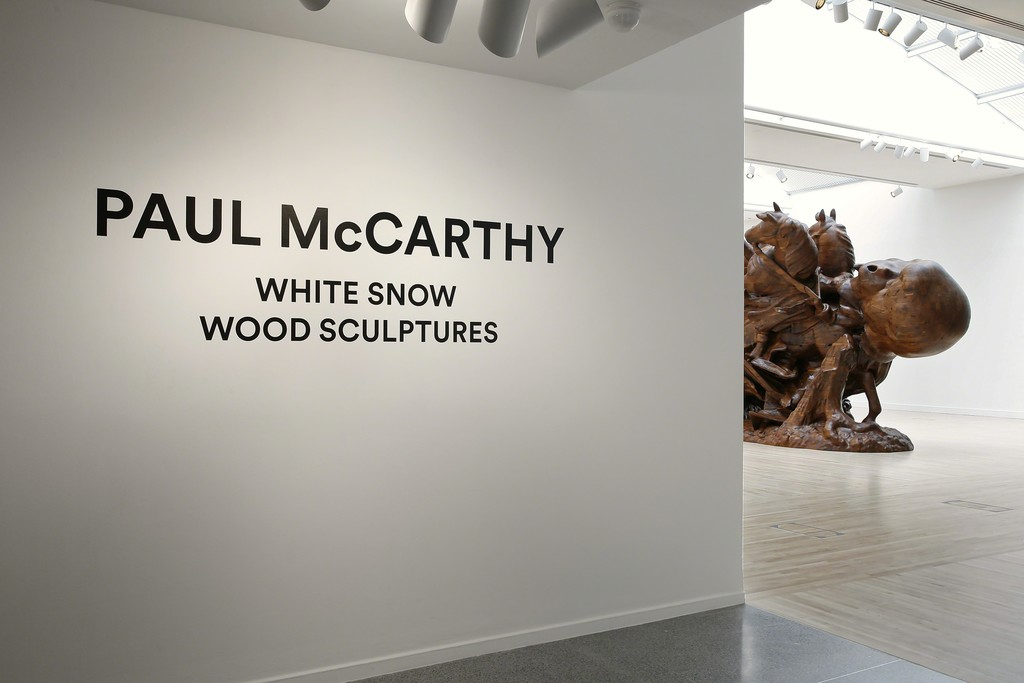 Paul McCarthy: White Snow, Wood Sculptures [installation view]. 2016. Henry Art Gallery, University of Washington, Seattle. Photo credit: Mark Woods.