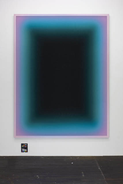 Jonny Niesche, 'A problem concerning emptiness', 2019, Painting, 3 x layers of Voile fabric print Aluminium flat bar frame of my design Auto lack, LUNDGREN GALLERY