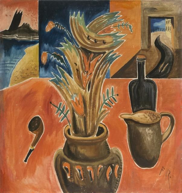 , 'Stillleben mit rotem Tisch und Pfeife,' 1921, Galerie Thomas