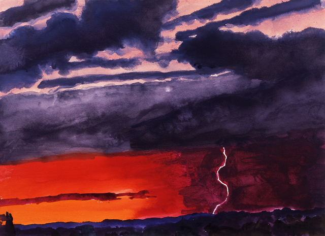 , 'Red Lightning Sunset I,' 2005, New York Studio School