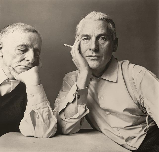 Irving Penn, 'Frederick Kiesler & Willem de Kooning', 1960, Robert Klein Gallery