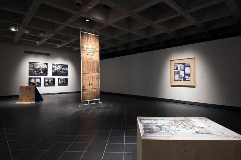 Installation view, Black Atlas at Cantor Fitzgerald Gallery. Photo: Lisa Boughter