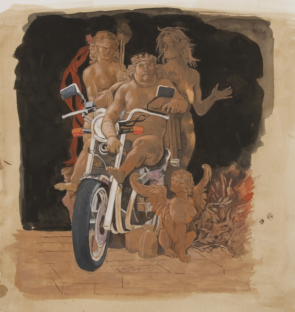 , 'The Biker after Andrea Mantegna's Allegory of Vice and Virtue,' 2013, Francis M. Naumann Fine Art