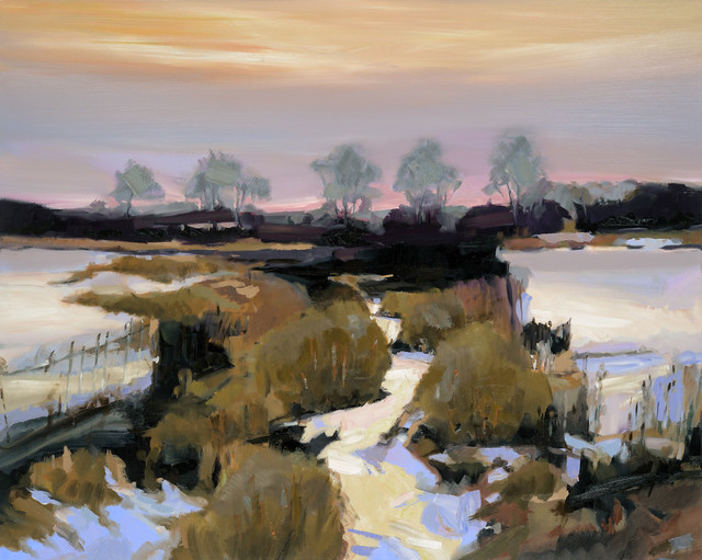 Simon Andrew, 'River Dividing Fields', 2017, Wallace Galleries