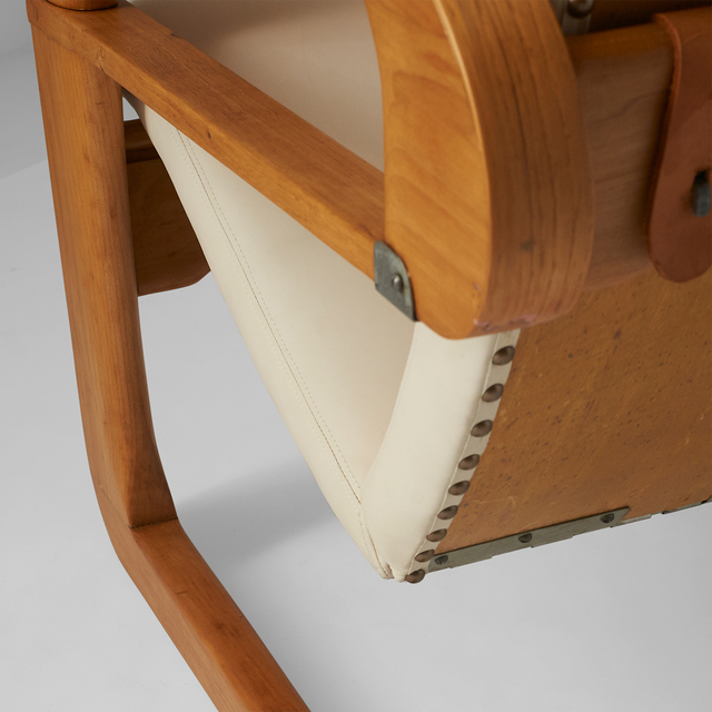 "Kem Weber, 'Kem Weber, Pair of Reclining ""Airline"" Chairs', ca. 1934, Design/Decorative Art, Birch, Leather, Almond & Co."