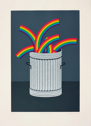 Patrick Hughes, 'Rubbish Rainbows,' 1978, Phillips: Evening and Day Editions