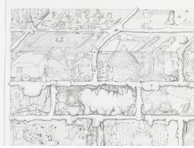 , 'Ah (detail),' 2010, Gagosian Gallery