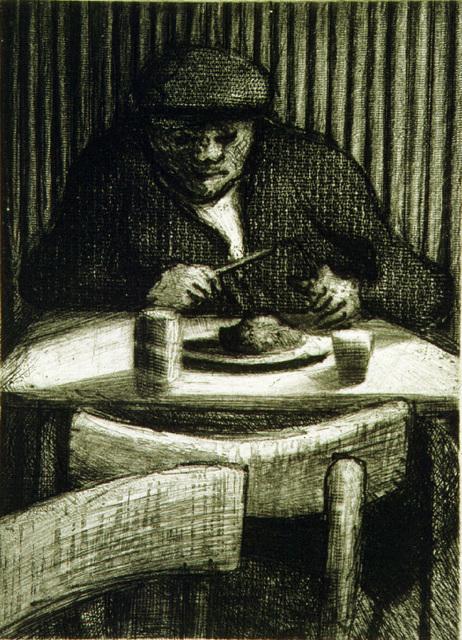 Bill Jacklin, 'Man Eating', 1998, Marlborough Graphics