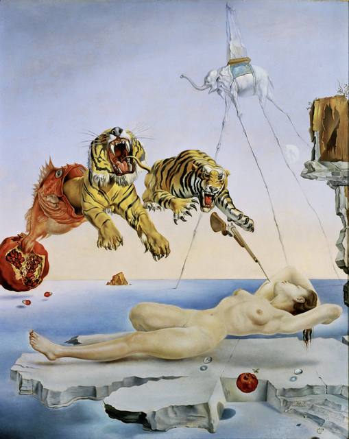 Salvador Dalí, 'Dream caused by the Flight of a Bee around a Pomegranate a Second before Waking up', 1944, Painting, Oil on canvas, Erich Lessing Culture and Fine Arts Archive